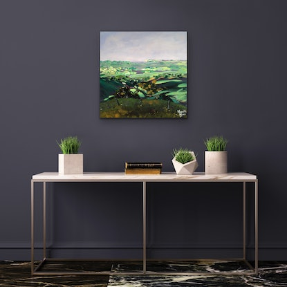 (CreativeWork) Coopers Shoot, Byron Bay Hinterland  by Meredith Howse. Acrylic Paint. Shop online at Bluethumb.