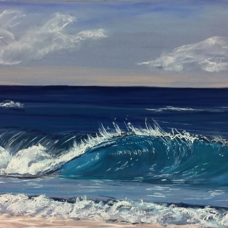(CreativeWork) The Big Wave by Shannan Whitby. Drawings. Shop online at Bluethumb.