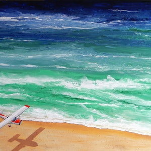(CreativeWork) Fraser Island Airstrip by Tony Beckley. arcylic-painting. Shop online at Bluethumb.