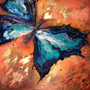 (CreativeWork) Freedom To Flutter by Patrycja Whipp. arcylic-painting. Shop online at Bluethumb.