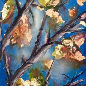 (CreativeWork) When Autumn Leaves * by Louise Croese. mixed-media. Shop online at Bluethumb.