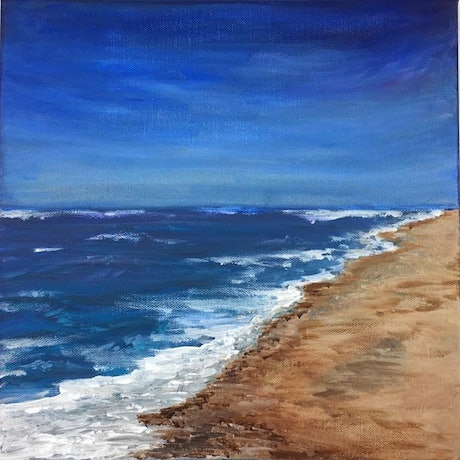 (CreativeWork) Evening Beach by Afshan C.Koya. Acrylic Paint. Shop online at Bluethumb.