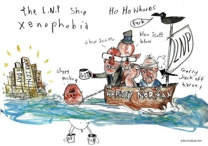 The L.N.P Ship Xenophobia - thanks Gerry