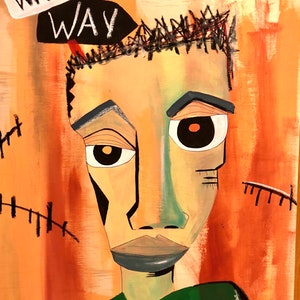(CreativeWork) Wrong Way by Anthony Arrop. mixed-media. Shop online at Bluethumb.