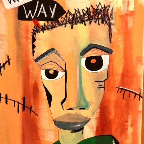 (CreativeWork) Wrong Way by Anthony Arrop. Mixed Media. Shop online at Bluethumb.