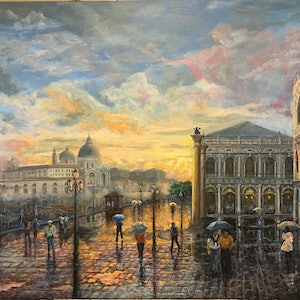 (CreativeWork) Clearing Showers Riva Degli Schiavoni by Cheng Huat Lee. arcylic-painting. Shop online at Bluethumb.