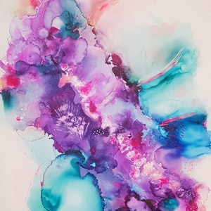 (CreativeWork) Abstract by Jojo Harvey. other-media. Shop online at Bluethumb.