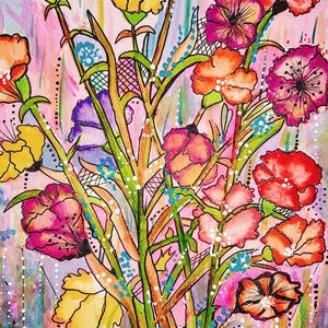 (CreativeWork) Bursting Colour by Meredith Dixon. mixed-media. Shop online at Bluethumb.