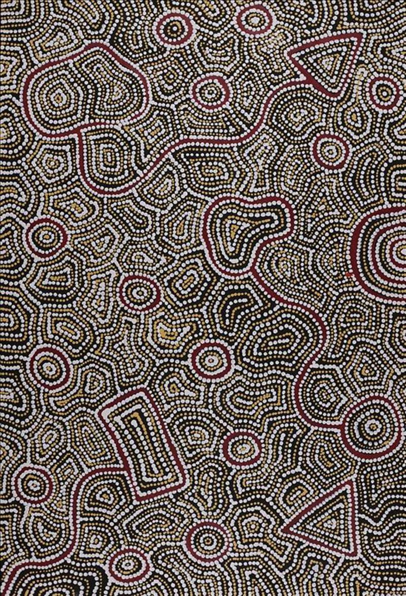 (CreativeWork) Ngapa Jukurrpa (Water Dreaming) - Puyurru 5522/17 by Shanna Napanangka Williams. arcylic-painting. Shop online at Bluethumb.