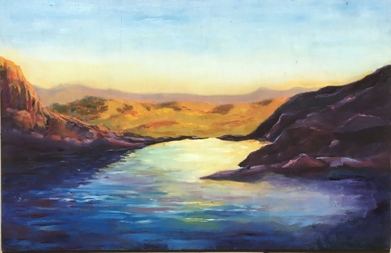 (CreativeWork) Cooinda, Kakadu.  Evening Light by Graeme Symons. oil-painting. Shop online at Bluethumb.