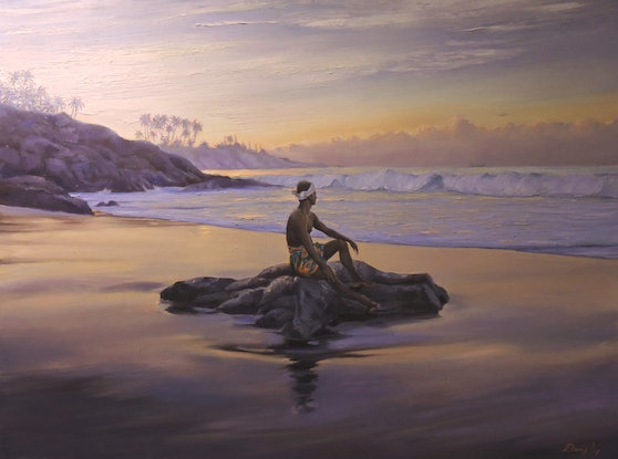 (CreativeWork) No Man is an Island Unto Himself by Rob Davis. Oil Paint. Shop online at Bluethumb.