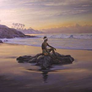 (CreativeWork) No Man is an Island Unto Himself by Rob Davis. oil-painting. Shop online at Bluethumb.