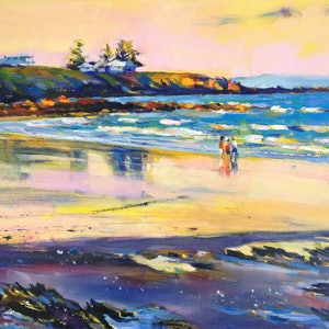 (CreativeWork) Zilzie Beach, Colour Therapy by Elena Churilova. oil-painting. Shop online at Bluethumb.