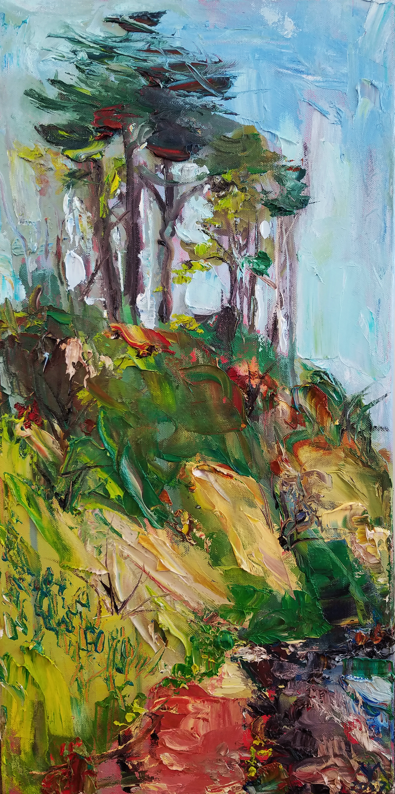(CreativeWork) South Tree Feelings by meg murray. oil-painting. Shop online at Bluethumb.