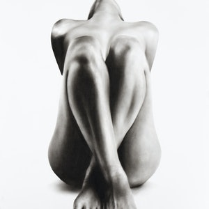(CreativeWork) Nude Woman Charcoal Study 63 by Ashvin Harrison. drawing. Shop online at Bluethumb.