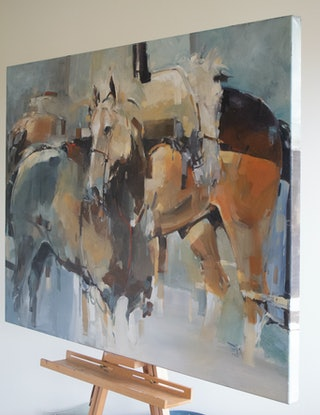 (CreativeWork) After Battle 1 ( Oil ) by Tony Belobrajdic. Oil Paint. Shop online at Bluethumb.