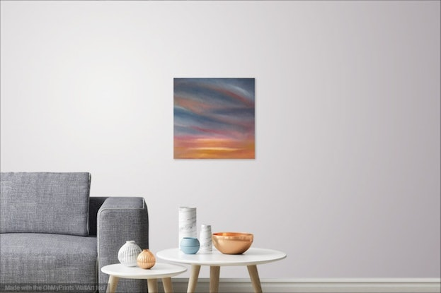 (CreativeWork) Winter Sunrise 2 by Kitty Berton. Oil Paint. Shop online at Bluethumb.