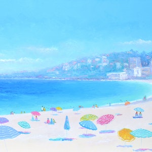 (CreativeWork) COOGEE BEACH DAY  by Jan Matson. oil-painting. Shop online at Bluethumb.