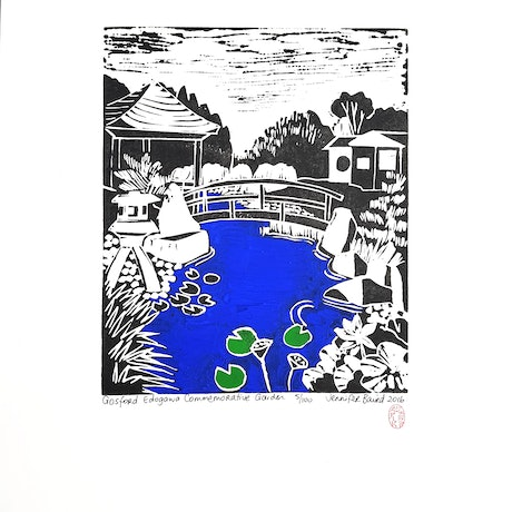 (CreativeWork) Gosford Edogawa Commemorative Gardens. Ed. 5 of 100 by Jennifer Baird. Print. Shop online at Bluethumb.
