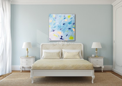 (CreativeWork) Little bits by tina alesi. arcylic-painting. Shop online at Bluethumb.