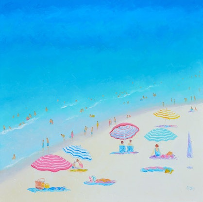 (CreativeWork) A BLUE, BLUE DAY by Jan Matson. Oil Paint. Shop online at Bluethumb.