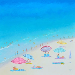 (CreativeWork) A BLUE, BLUE DAY by Jan Matson. oil-painting. Shop online at Bluethumb.