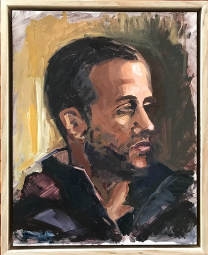 (CreativeWork) Jonte by Jane Kanizay. oil-painting. Shop online at Bluethumb.