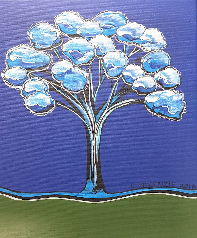 (CreativeWork) Mini Blue by Karen McKenzie. arcylic-painting. Shop online at Bluethumb.