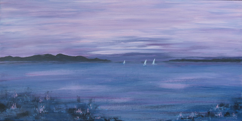 (CreativeWork) Pastel Sail by Jennifer Whiteley. arcylic-painting. Shop online at Bluethumb.