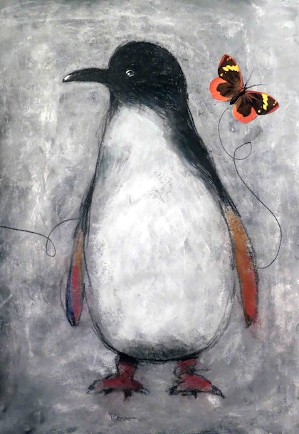 Fairy Penguin and Fluttering Butterfly