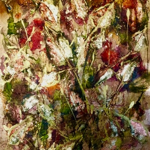 (CreativeWork) When Autumn Leaves  by Louise Croese. mixed-media. Shop online at Bluethumb.
