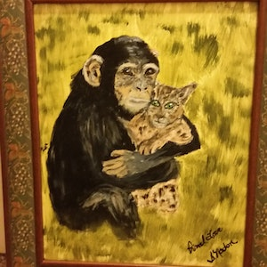 (CreativeWork) Primal Love  by Sue Nadon. arcylic-painting. Shop online at Bluethumb.