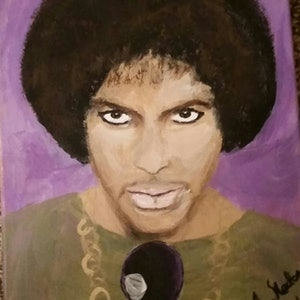 (CreativeWork) Prince, The Artist  by Sue Nadon. arcylic-painting. Shop online at Bluethumb.
