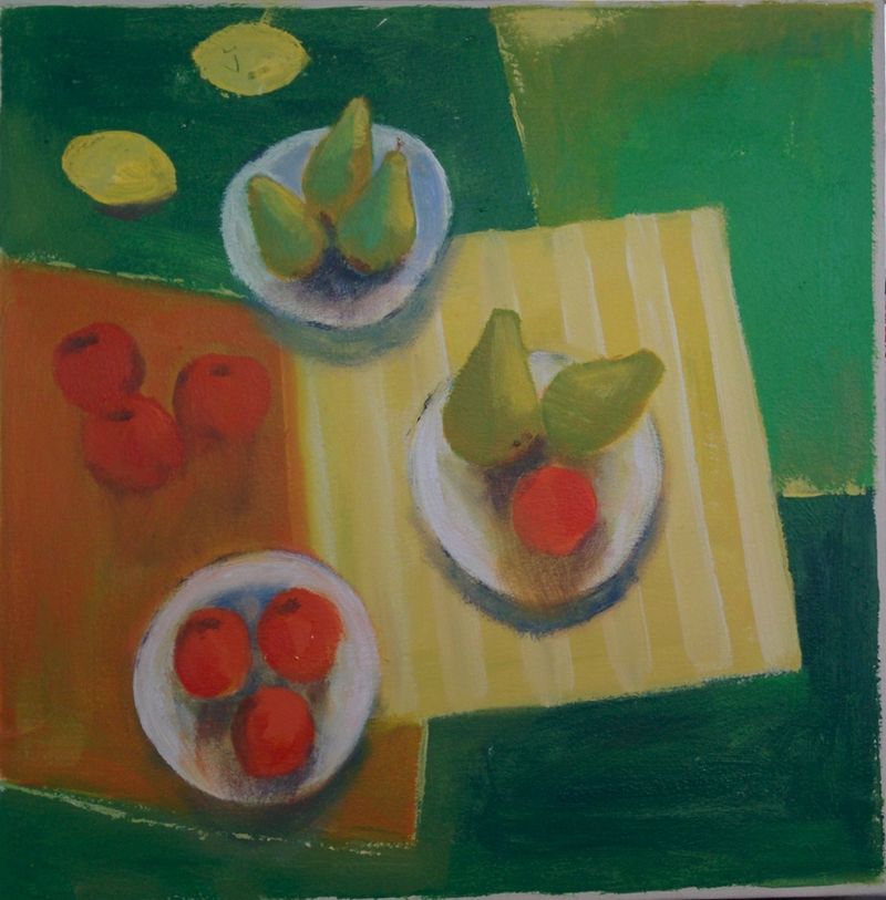 (CreativeWork) Tasty fruits by Gennady Veremeenko. Acrylic Paint. Shop online at Bluethumb.