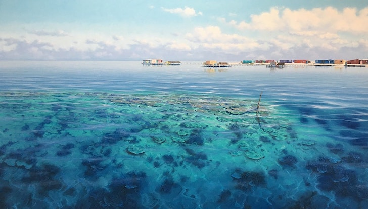 (CreativeWork) Basile Island, Abrolhos Islands  by Paul Lucas. Print. Shop online at Bluethumb.