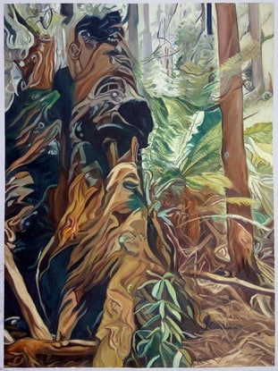 (CreativeWork) Faerie Forest by Chris Hislop. Oil Paint. Shop online at Bluethumb.