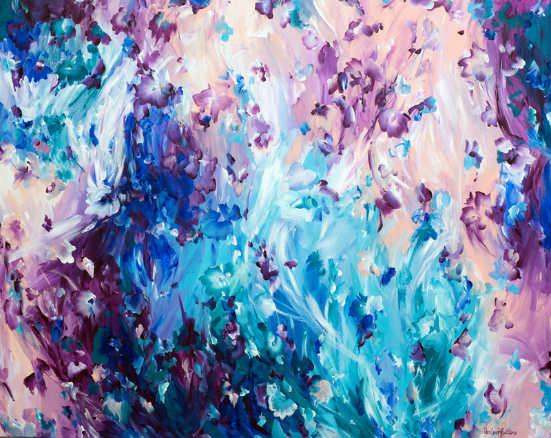 (CreativeWork) Ocean Blush by Amber Gittins. Acrylic Paint. Shop online at Bluethumb.