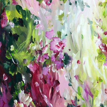 (CreativeWork) In Bloom by Amber Gittins. Acrylic Paint. Shop online at Bluethumb.