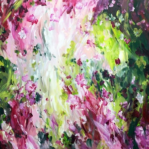 (CreativeWork) In Bloom by Amber Gittins. arcylic-painting. Shop online at Bluethumb.