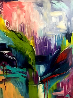 (CreativeWork) Where there's freedom by Maggie Deall. Acrylic Paint. Shop online at Bluethumb.