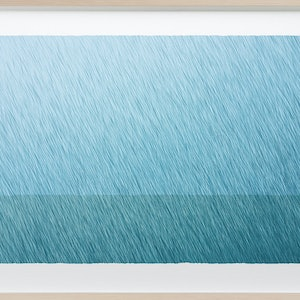 (CreativeWork) 'The Wet Waters' Mixed media painting. Framed ready to hang 84 x 60cm  by George Hall. arcylic-painting. Shop online at Bluethumb.