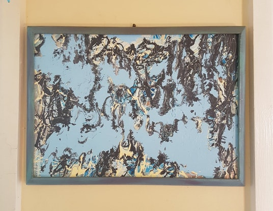 """(CreativeWork) 'Clouds Come Down"""" by Jack Moon. Acrylic Paint. Shop online at Bluethumb."""