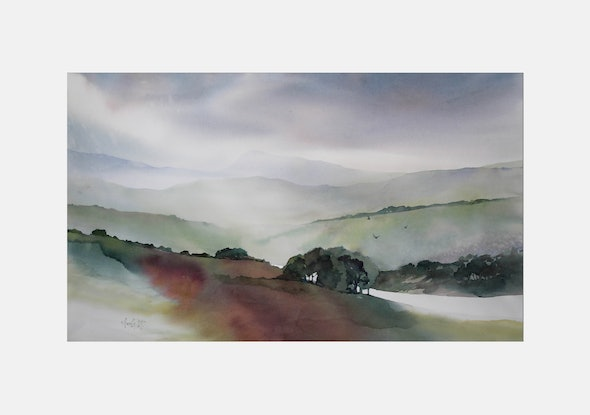 (CreativeWork) Transient Moments by Annette Raff. Watercolour Paint. Shop online at Bluethumb.