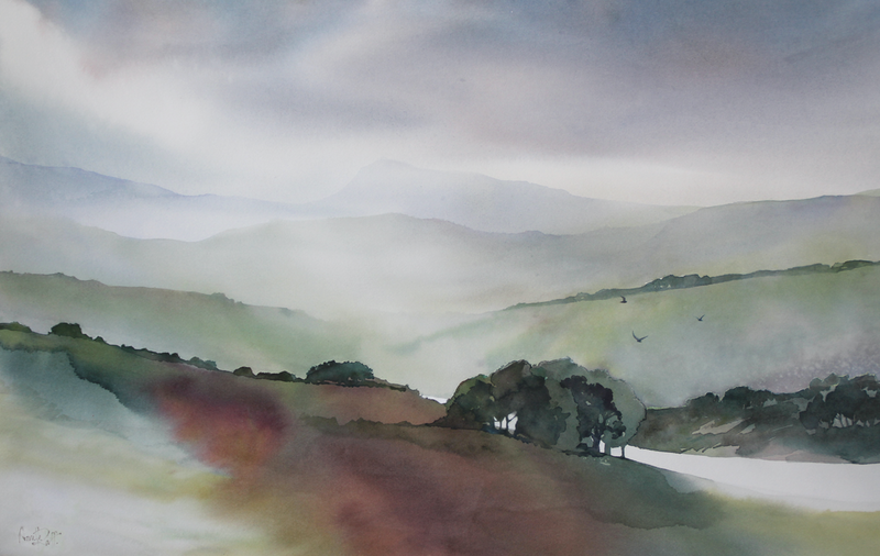 (CreativeWork) Transient Moments by Annette Raff. watercolour. Shop online at Bluethumb.