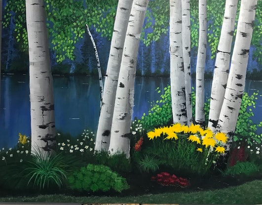(CreativeWork) At the Park by Tom Roso. Acrylic Paint. Shop online at Bluethumb.