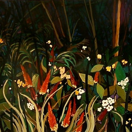 (CreativeWork) Dream Gardens #4 by Andrew J Pearson. Oil. Shop online at Bluethumb.