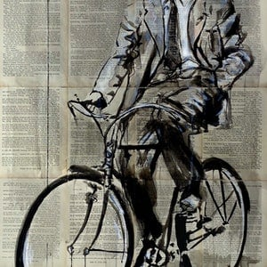 (CreativeWork) RIDE ON by loui jover. drawing. Shop online at Bluethumb.
