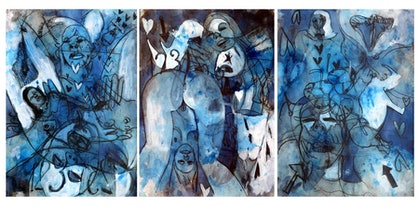 Erotic Dreaming (aka blue dreaming) - Three unframed works each 42 x 60cm