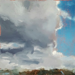 (CreativeWork) Coming Over Dirty by Richard Burkitt. oil-painting. Shop online at Bluethumb.
