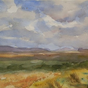(CreativeWork) Approaching Rain Clouds by Phillip Mylecharane. watercolour. Shop online at Bluethumb.